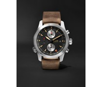 ALT1-ZT/51 Automatic GMT Chronograph 43mm Stainless Steel and Leather Watch, Ref. ALT1-ZT-BK-R-S
