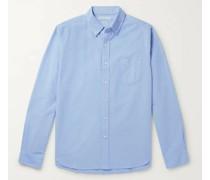 Button-Down Collar Overdyed Cotton Oxford Shirt