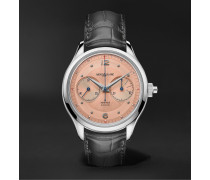Heritage Monopusher Automatic Chronograph 42mm Stainless Steel and Alligator Watch, Ref. No. 126078