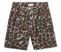 Doxxi Printed Cotton-Voile Drawstring Shorts