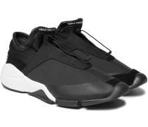 Future Suede And Leather-trimmed Neoprene Sneakers