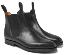 Newmarket Grained-leather Chelsea Boots