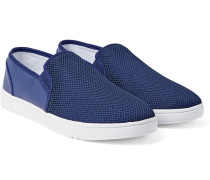 Powell Mesh And Coated-canvas Slip-on Sneakers