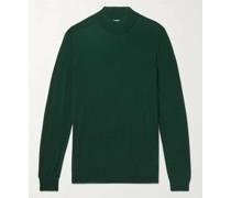 Merino Wool Mock-Neck Sweater