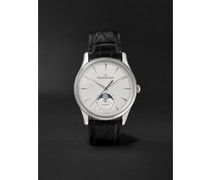 Master Ultra Thin Automatic Moon-Phase 39mm Stainless Steel and Alligator Watch, Ref. No. 1368430