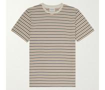 Niels Striped Cotton and Linen-Blend T-Shirt