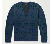 Floral Jacquard-Knit Cardigan