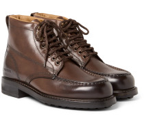 Burnished-leather Hiking Boots