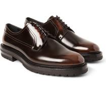 Lug-soled Polished-leather Derby Shoes