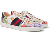 Ace Printed Leather Sneakers