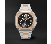 BR 05 Automatic 40mm 18-Karat Rose Gold and Steel Watch, Ref. No. BR05A-BL-STPG/SSG