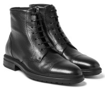Warsaw Cap-toe Full-grain Leather Boots