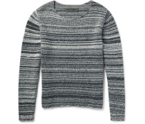 Striped Marled Cashmere Sweater