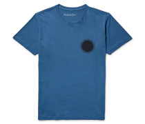 Indigo Sun Printed Garment-dyed Cotton-jersey T-shirt