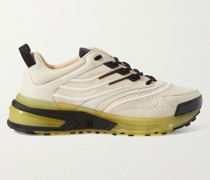 GIV 1 Leather and Mesh Sneakers