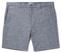 Baxter Stretch Linen And Cotton-blend Chambray Shorts