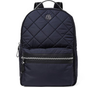Gigi Zaino Leather-trimmed Quilted Nylon Backpack