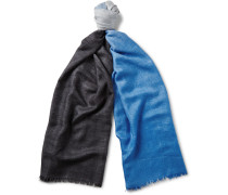 Tie & Dye Cashmere And Silk-blend Scarf