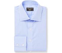 Micro-Checked Cotton Shirt