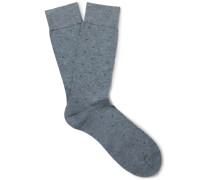 Patterned Cotton-blend Socks