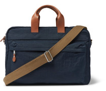 Harwick Leather-trimmed Canvas Briefcase