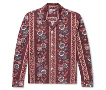 Louie Camp-Collar Floral-Print Cotton Shirt