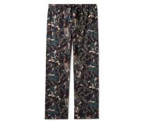 + Rie Takeda Samurai Printed Cotton Pyjama Trousers