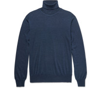 Wool, Silk And Cashmere-blend Rollneck Sweater