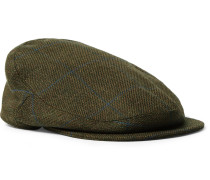 Checked Wool-blend Tweed Flat Cap