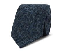 8cm Herrinbgone Wool-tweed Tie