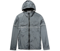 Striped Shell Hooded Jacket