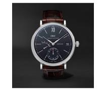 Portofino Hand-Wound Eight Days 45mm Stainless Steel and Alligator Watch, Ref. No. IW510102MSNET60