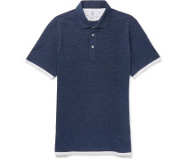 Layered Cotton-piqué Polo Shirt