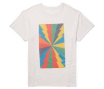 Printed Cashmere And Silk-blend T-shirt