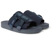 KAW-VS Webbing-Trimmed Suede Sandals