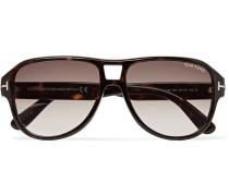 Dylan Aviator-style Tortoiseshell Acetate Sunglasses