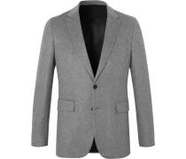 Grey Mélange Cashmere Blazer