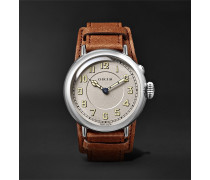 Big Crown 1917 Limited Edition Automatic 40mm Stainless Steel And Leather Watch