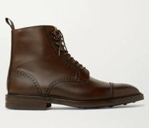 Toby Pebble-Grain Leather Brogue Boots
