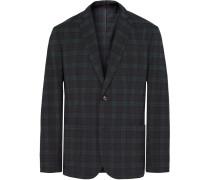 Shacket Slim-fit Checked Woven Blazer