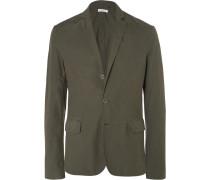 Slim-fit Unstructured Cotton Blazer