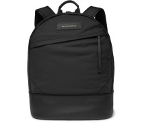 Kastrup Leather-trimmed Shell Backpack