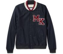 Appliquéd Wool-blend Varsity Jacket