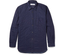 Slim-fit Quilted Cotton Shirt