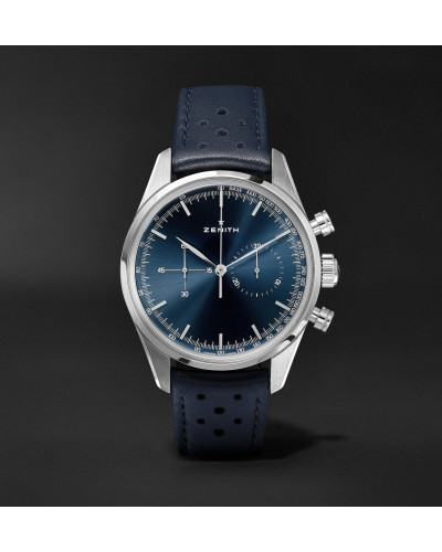 Chronomaster Heritage 146 Automatic Chronograph 38mm Stainless Steel and Leather Watch, Ref. No. 03.2150.4069/51.C805