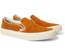 Cambridge Leather-Trimmed Suede Slip-On Sneakers