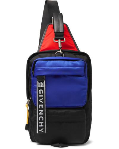 Ut3 Colour-block Logo-jacquard Leather-trimmed Shell Backpack - Black