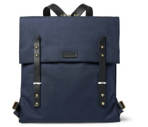 Santon Leather-trimmed Water-repellent Canvas Backpack