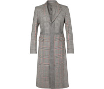Slim-fit Prince Of Wales Checked Wool And Cashmere-blend Coat