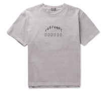 Embroidered Cotton-jersey T-shirt